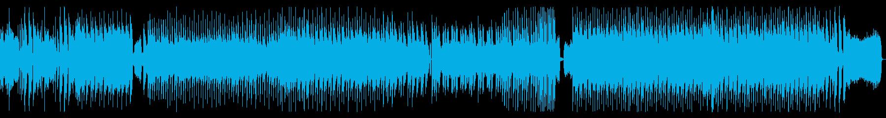 近未来的で躍動感あるクールなテクノポップの再生済みの波形