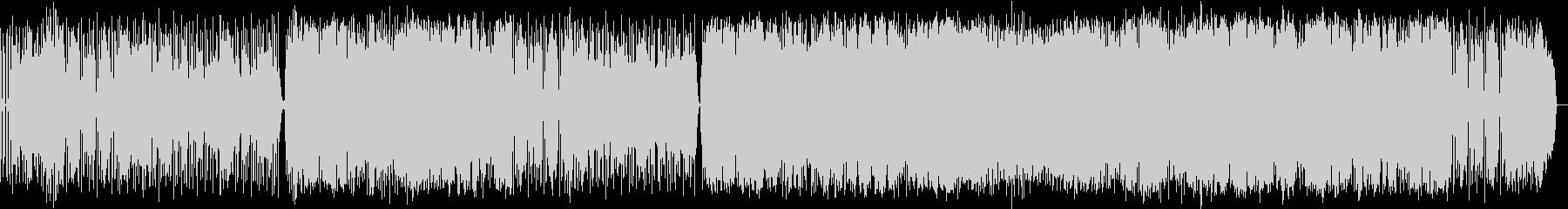 スローテンポのダークなロックの未再生の波形