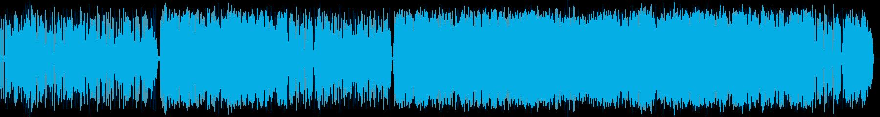 スローテンポのダークなロックの再生済みの波形
