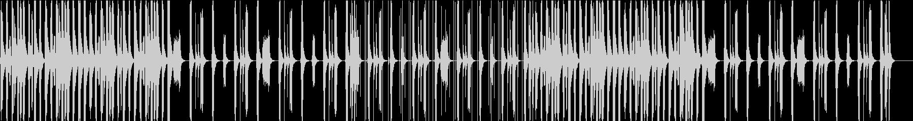 ほのぼのと可愛らしいBGMの未再生の波形