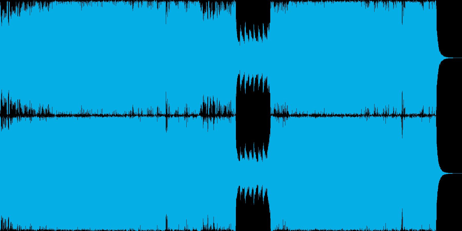 ヘビーメタルとダブステップの融合の再生済みの波形