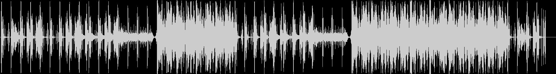 チルアウト R&B トラップの未再生の波形