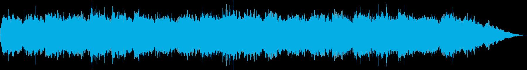 ゆったりした癒しの曲の再生済みの波形