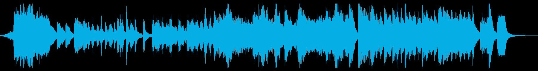 海外アニメのオープニング風の再生済みの波形