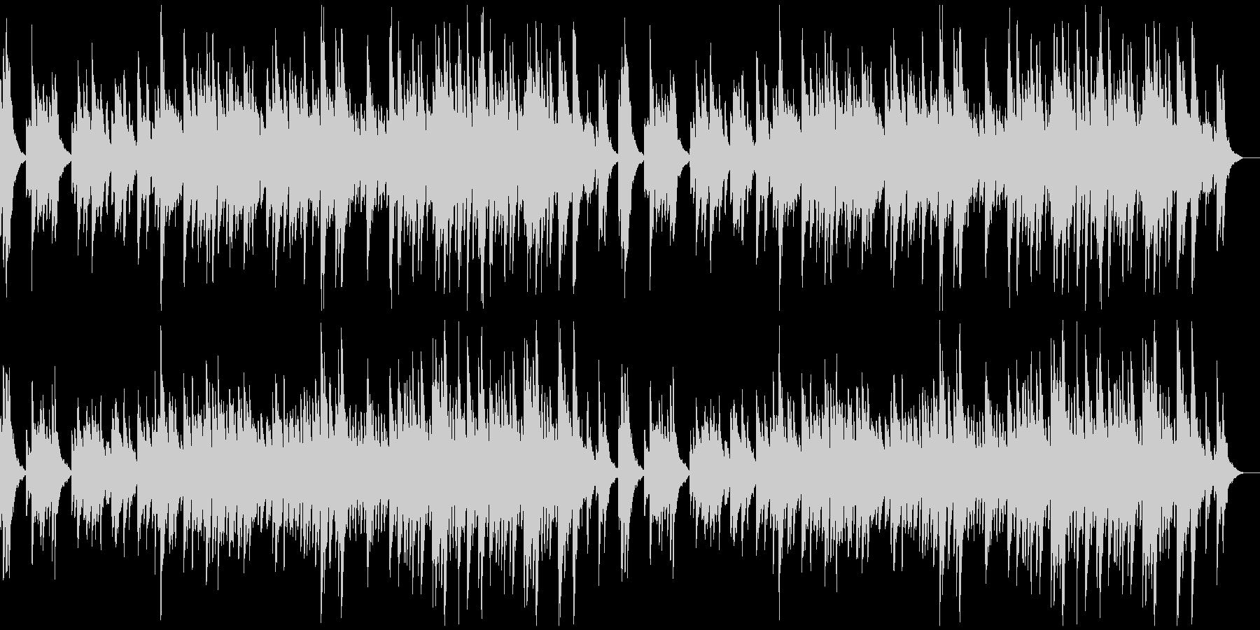 何かを告白するようなソロ・ピアノ曲の未再生の波形