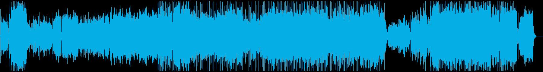 明るいオーケストラのエンディングの再生済みの波形