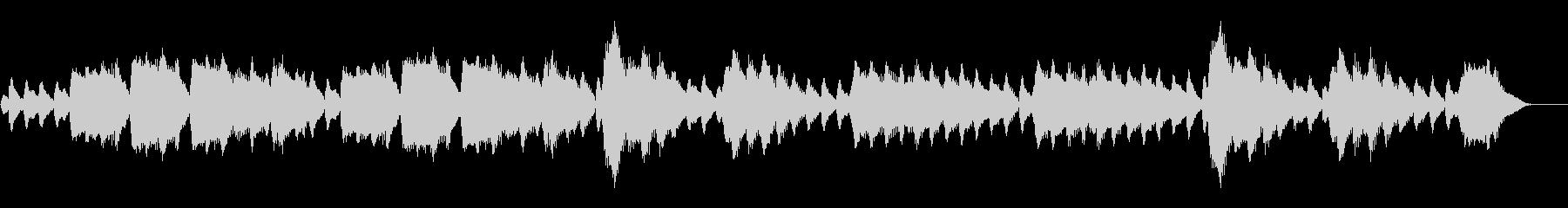 テルミンによる怪しいお化け風なサティの曲の未再生の波形