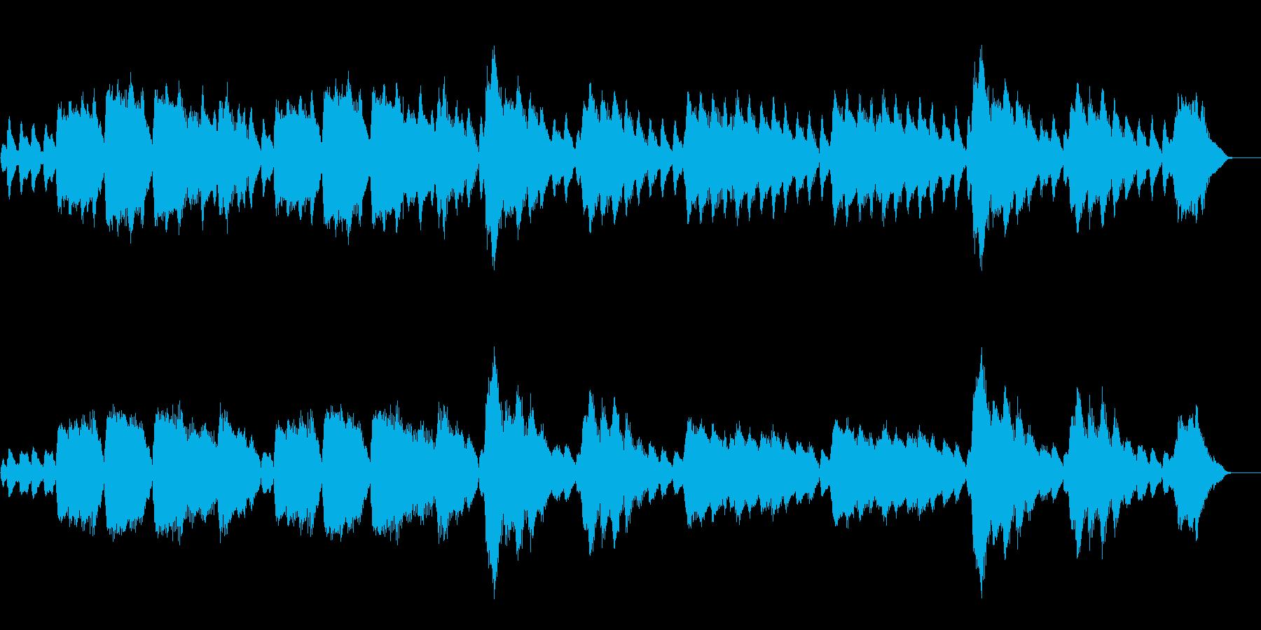 テルミンによる怪しいお化け風なサティの曲の再生済みの波形