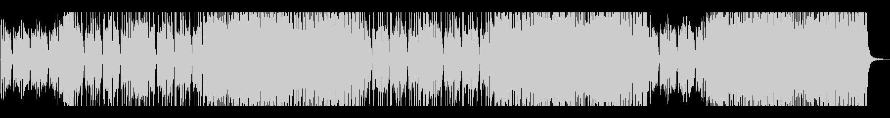 エネルギッシュなロックギターの未再生の波形