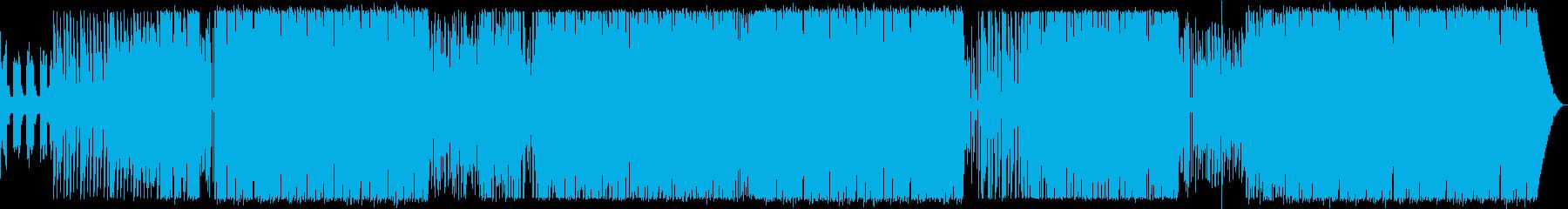 ギターがファンキーなEDMの再生済みの波形
