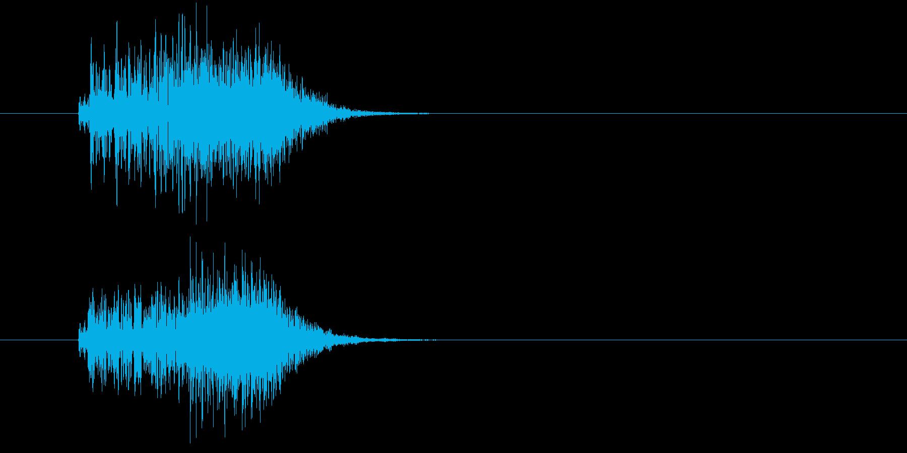 うねり_ゆがみ_スライド音の再生済みの波形