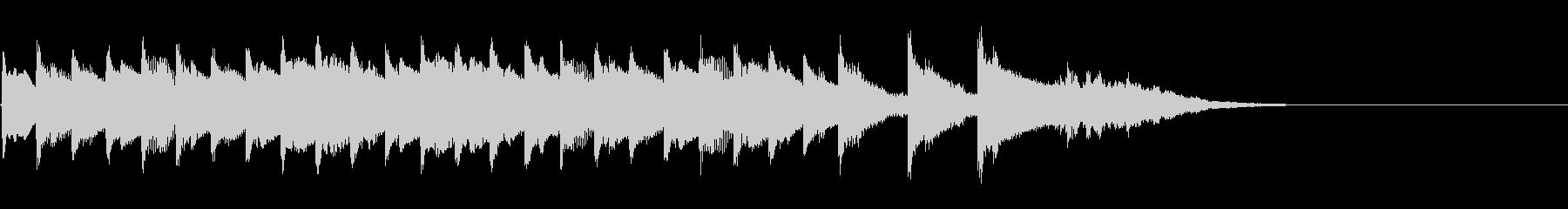 シンプルなアコギ風キラキラ入りジングルの未再生の波形
