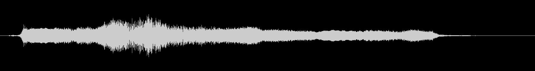 エレキギター、アームのダウンアップの未再生の波形