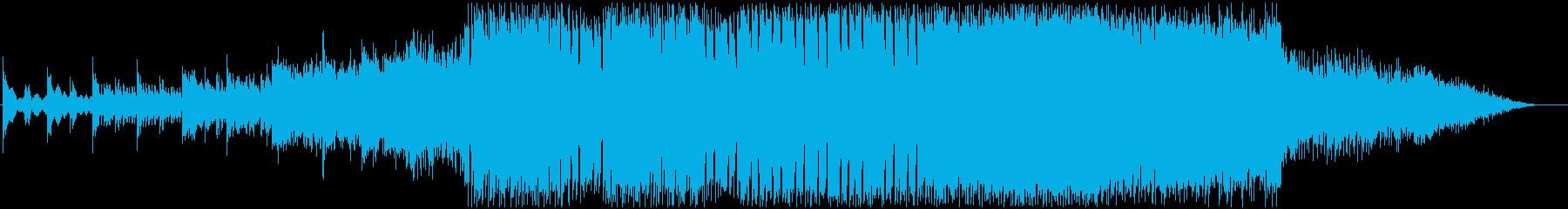 ロックとファンタジーなゲーム音楽テイストの再生済みの波形