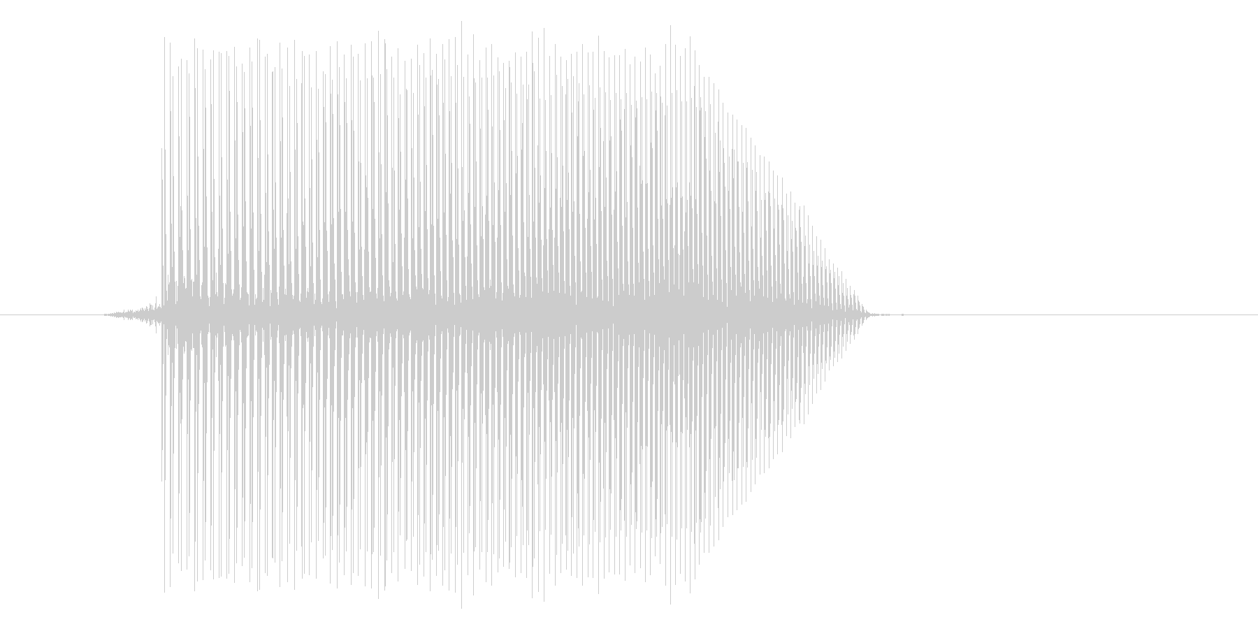 ゲーム(ファミコン風)ジャンプ音_048の未再生の波形