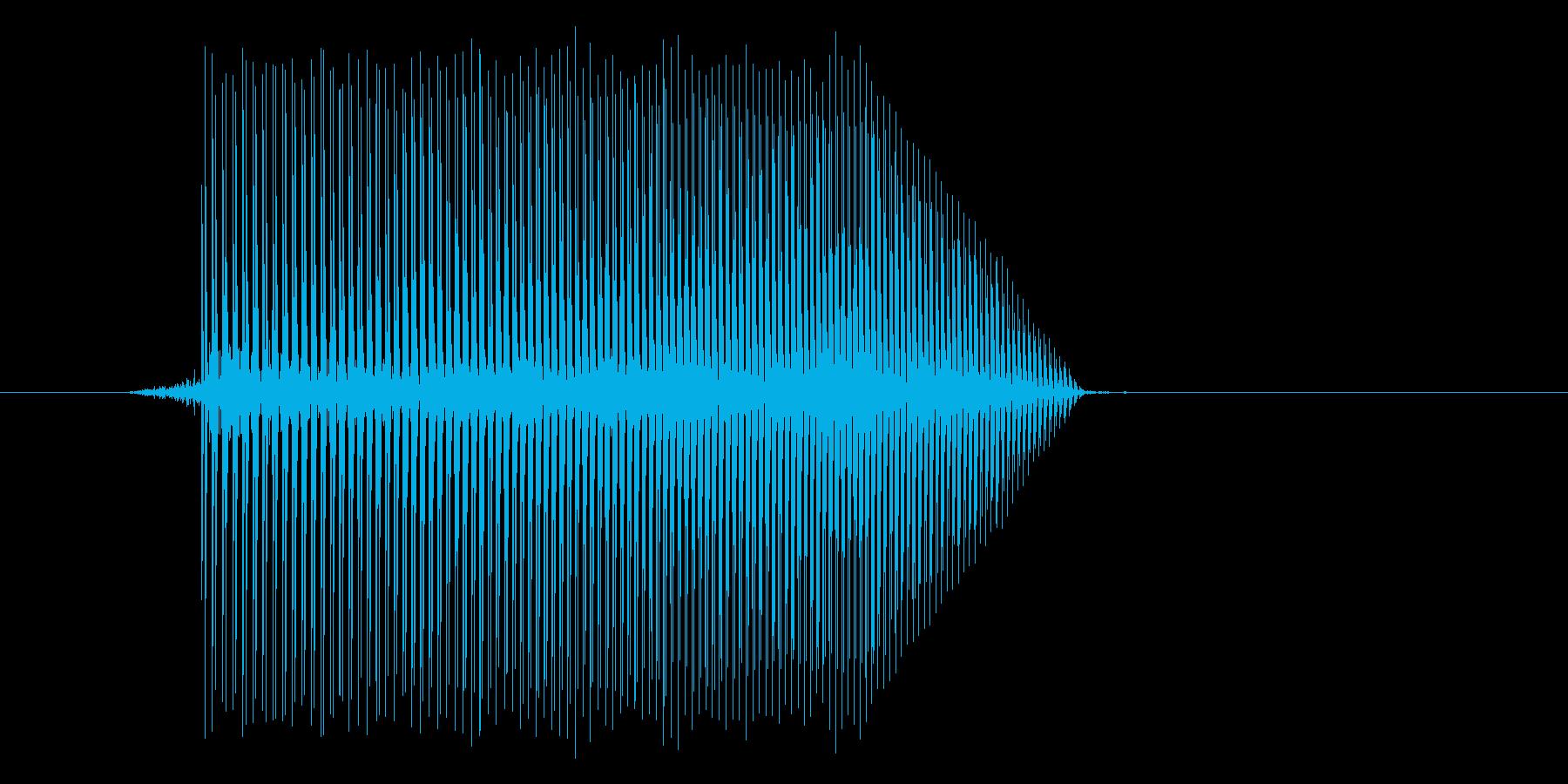 ゲーム(ファミコン風)ジャンプ音_048の再生済みの波形