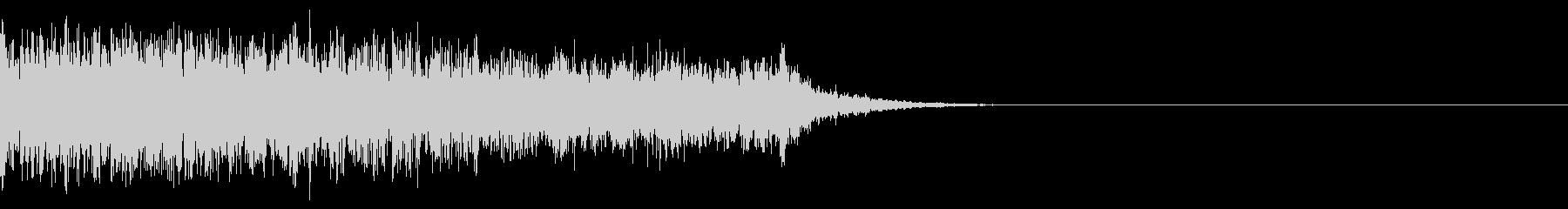 ウィンドチャイムとクワイアの効果音の未再生の波形