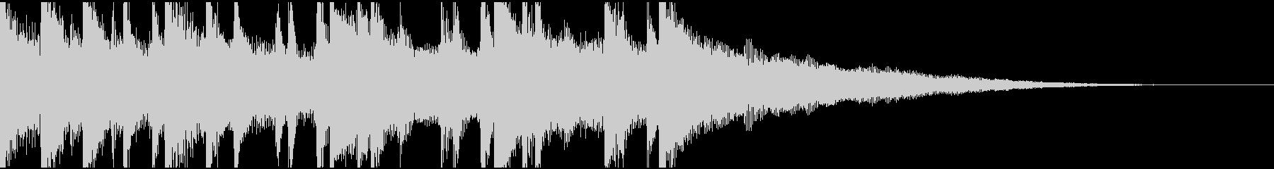 ウクレレ、ピアノの楽しい楽曲15秒Bの未再生の波形