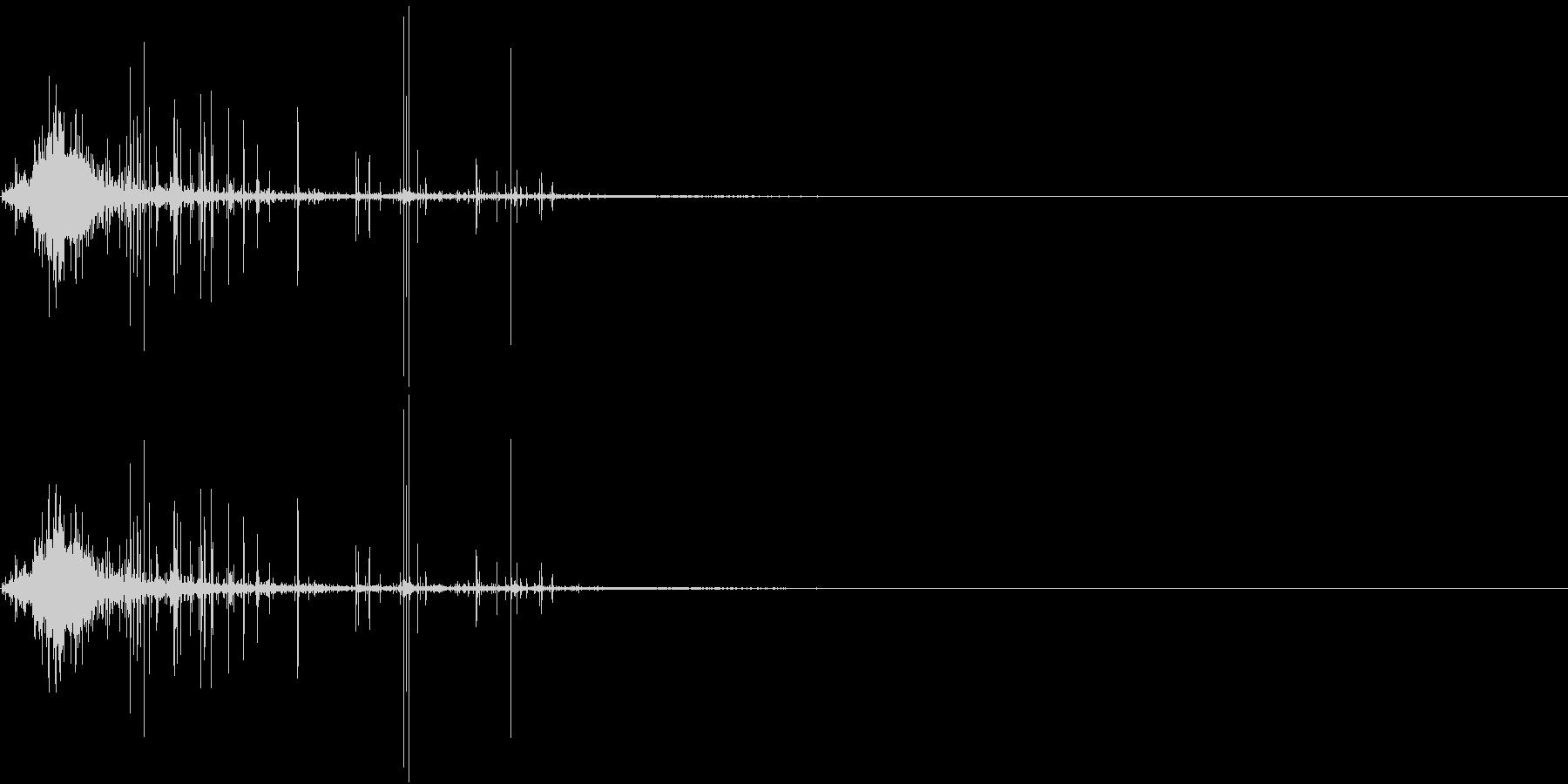 Zombie ゾンビの噛み付き音 3の未再生の波形