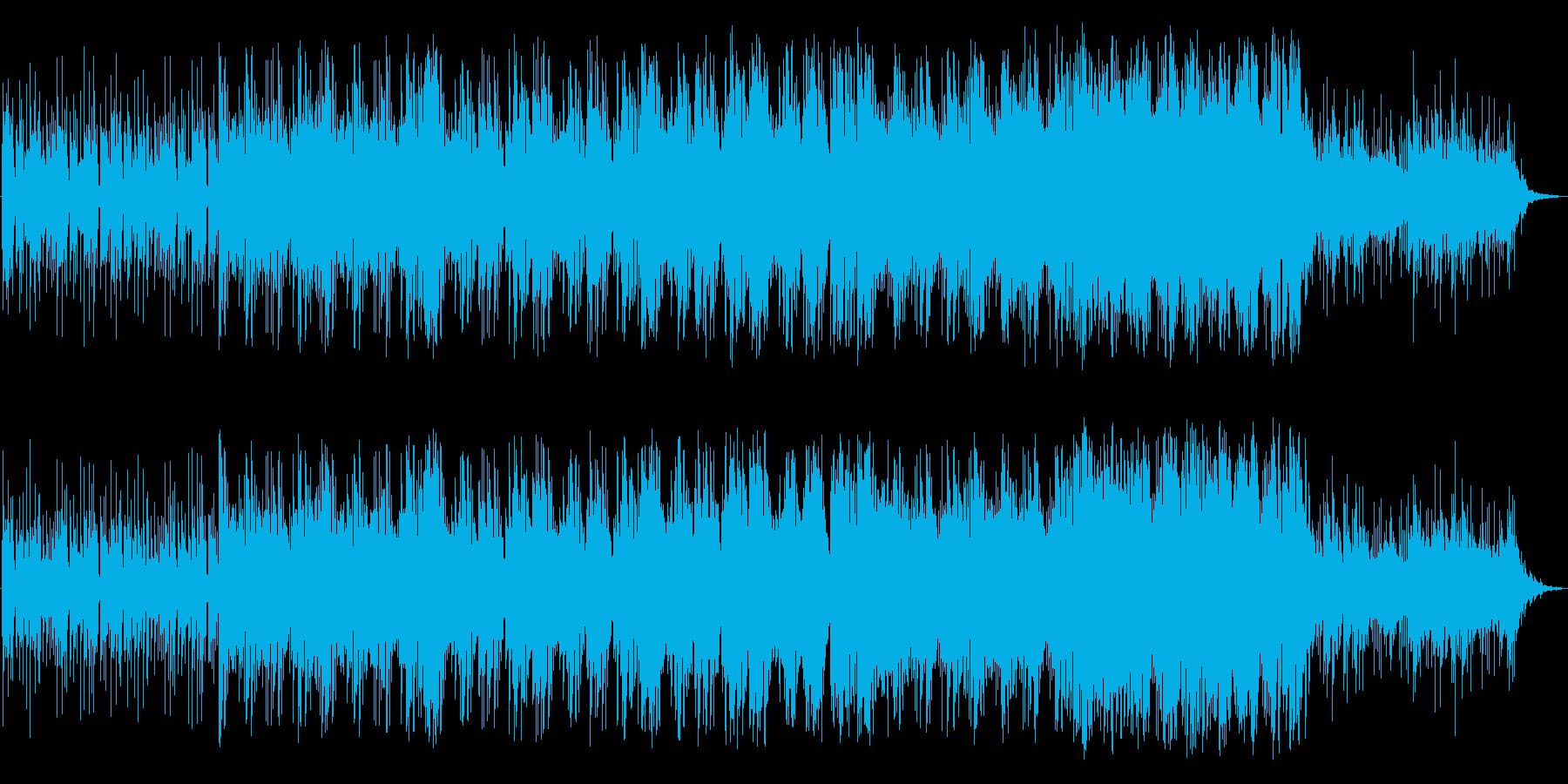 アップテンポなポップスの再生済みの波形