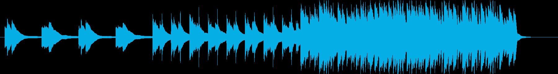 爽やかノスタルジックピアノバンドの再生済みの波形