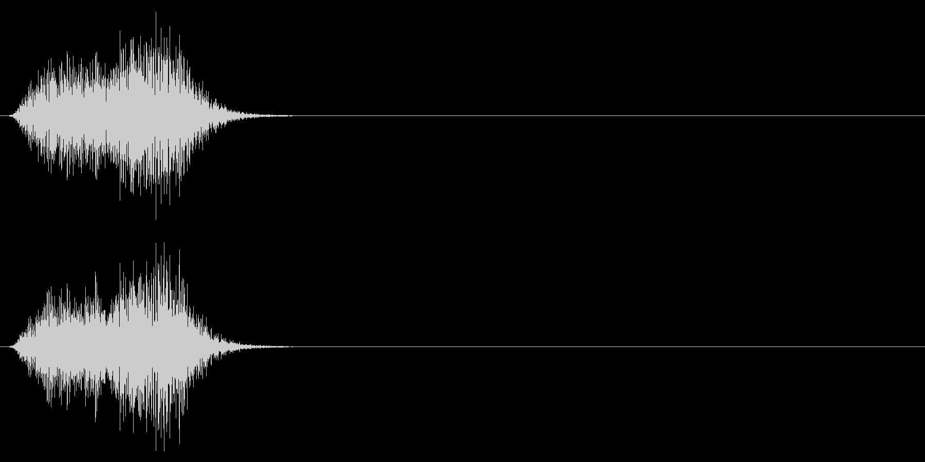 カケスの鳴き声(カラスの一種)の未再生の波形