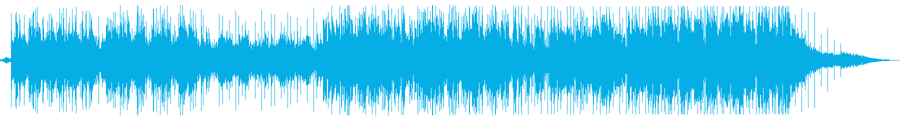 明るいピアノメロディーの滑らかなサウンドの再生済みの波形