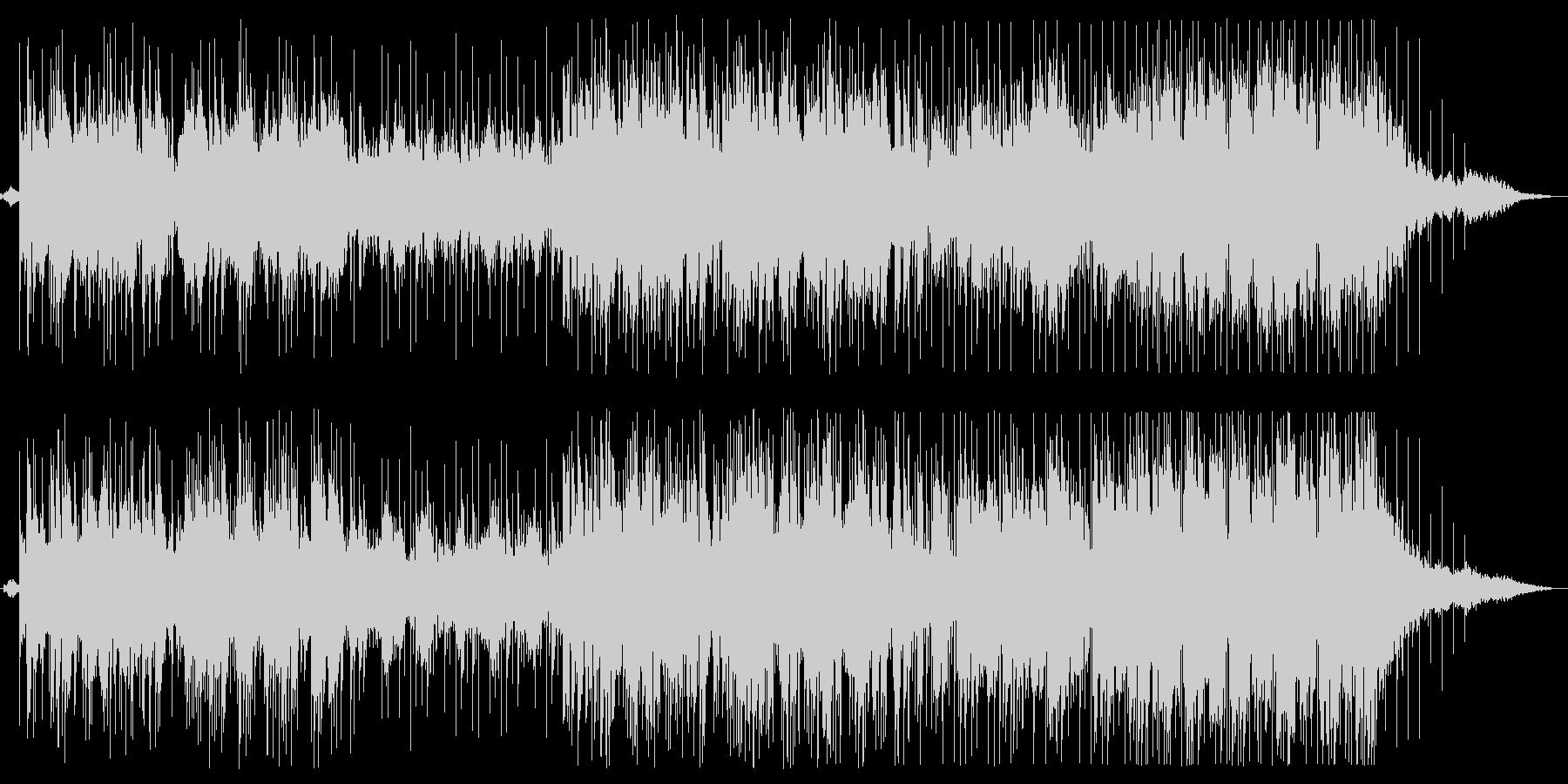 明るいピアノメロディーの滑らかなサウンドの未再生の波形