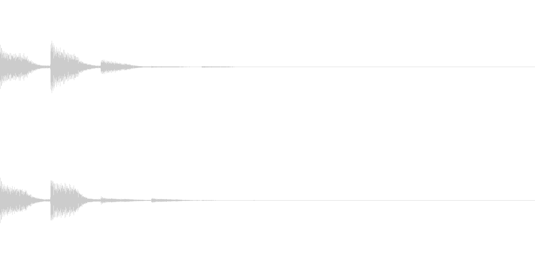 POPKEY ポップな通知音 6の未再生の波形