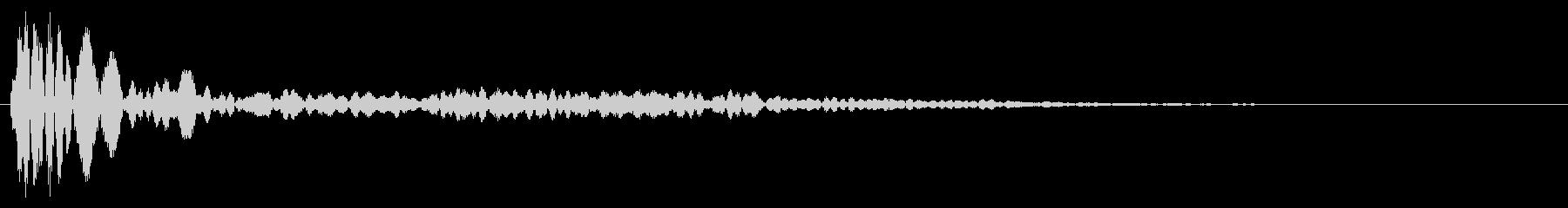 シンプルな決定音1の未再生の波形