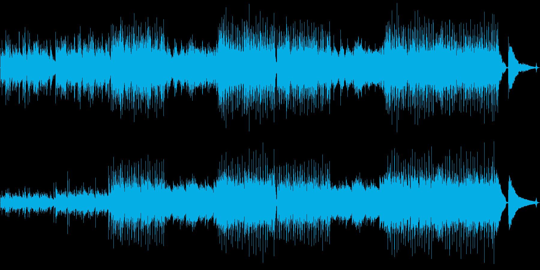 エモーショナルなポストロックの再生済みの波形