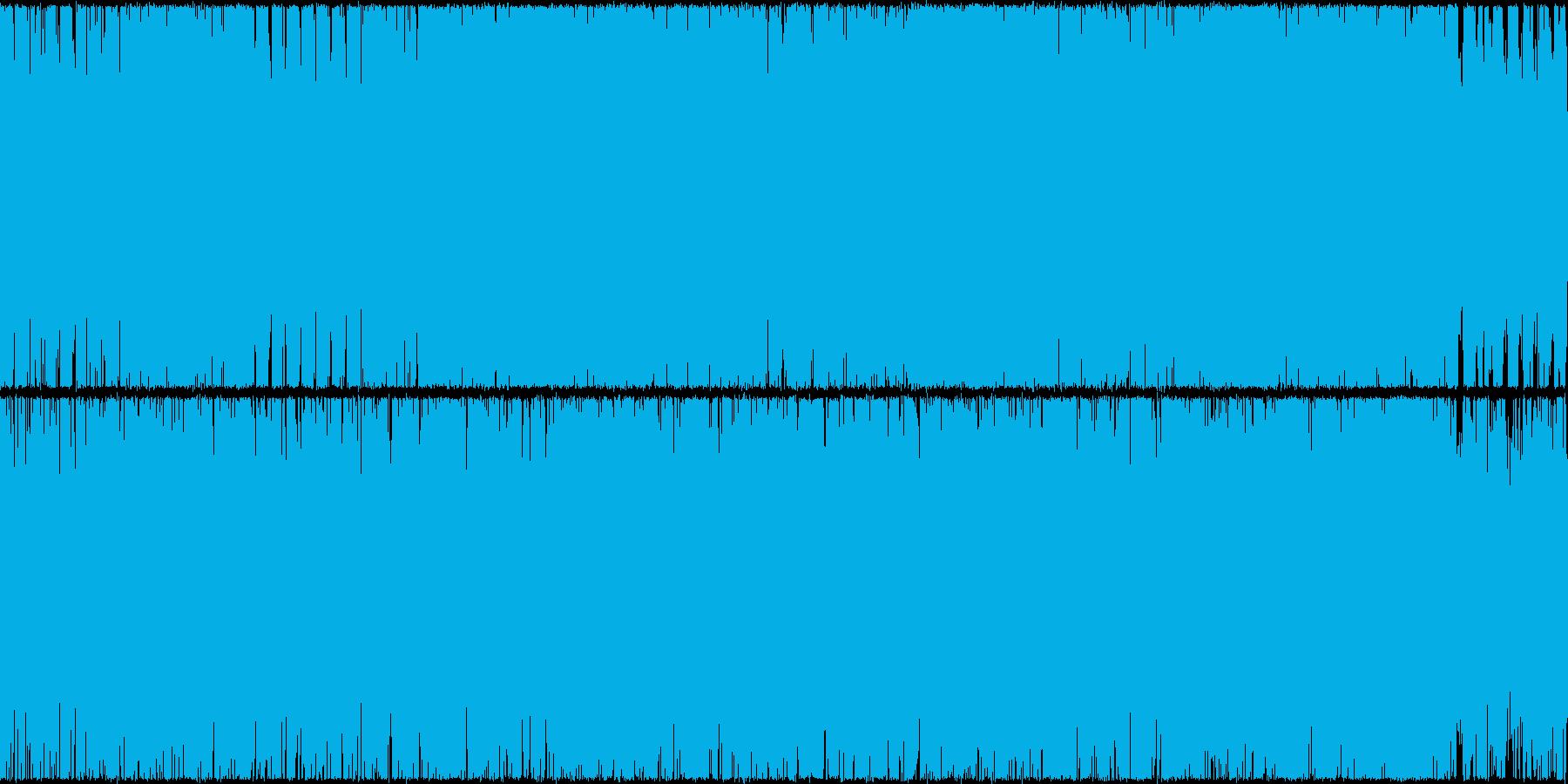落ち着く癒し系のインストの再生済みの波形