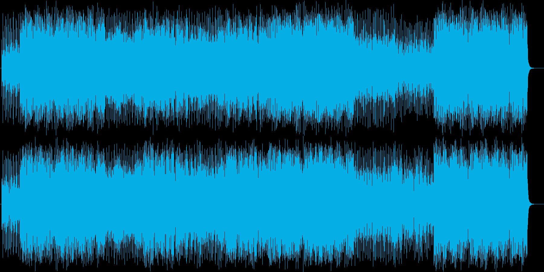 ライトなブラスが元気な曲の再生済みの波形