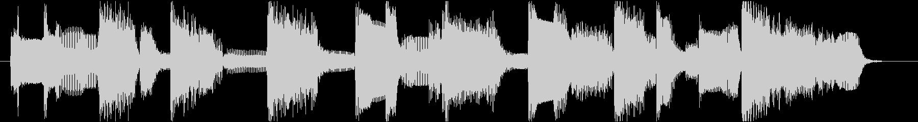 ローズピアノのブルージーなジングル11秒の未再生の波形