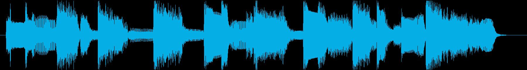 ローズピアノのブルージーなジングル11秒の再生済みの波形