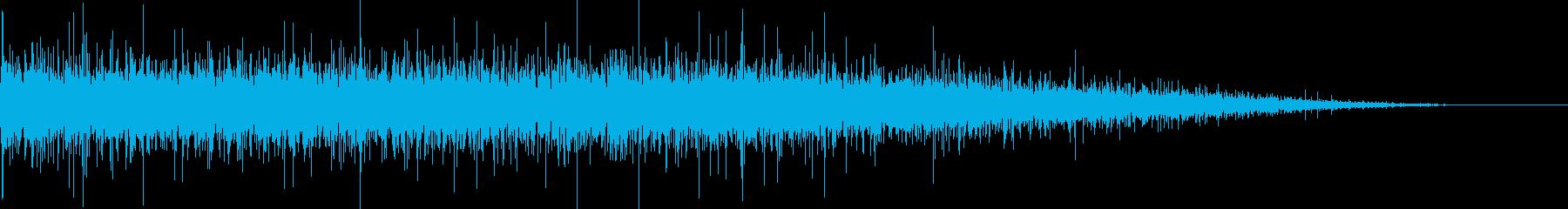 ぴちょぴちょ…穏やかな川の流れの再生済みの波形