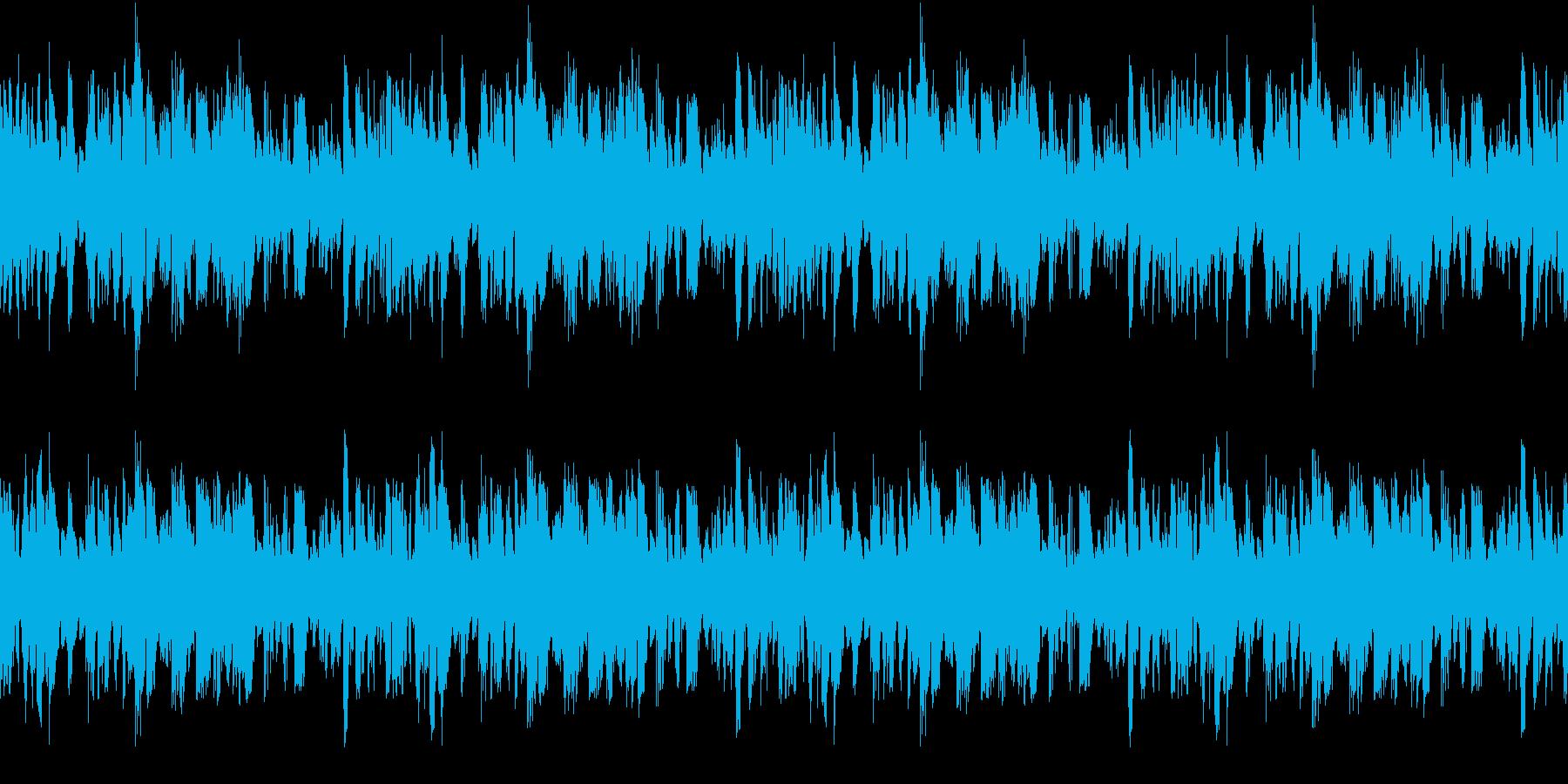 ダブステップっぽいシンプルなループの再生済みの波形
