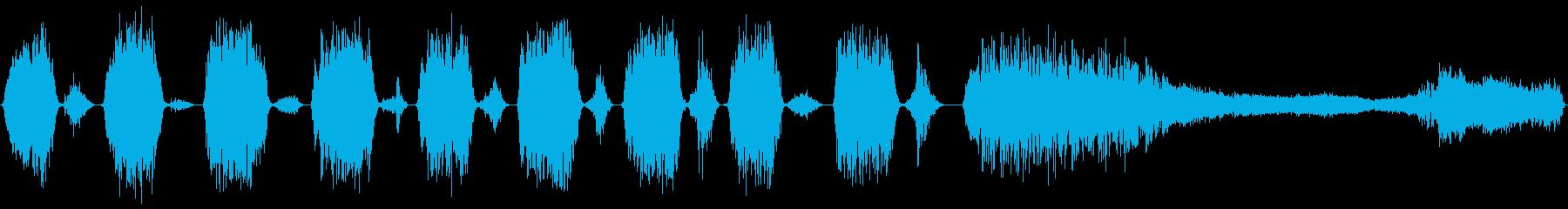 パンティングブレスの鳴き声クリーチ...の再生済みの波形