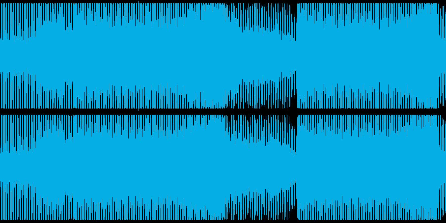 お洒落なEDM/ダンスミュージックループの再生済みの波形