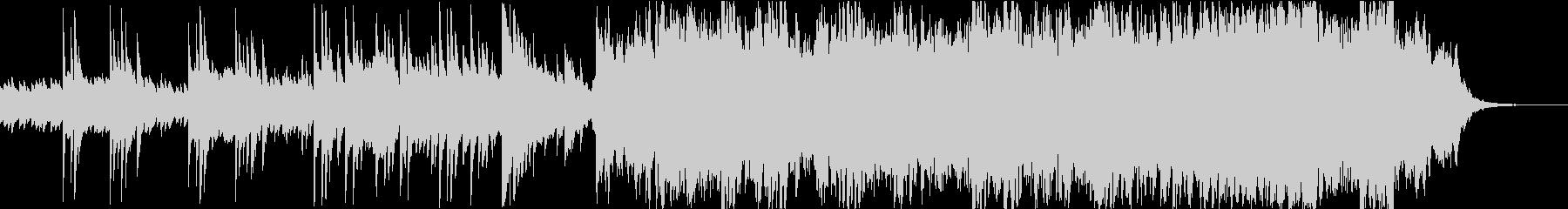 ピアノ アンビエント 水のせせらぎの未再生の波形