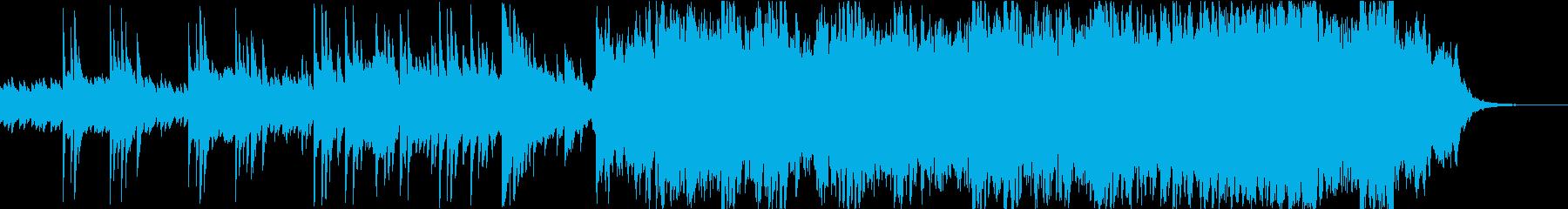 ピアノ アンビエント 水のせせらぎの再生済みの波形