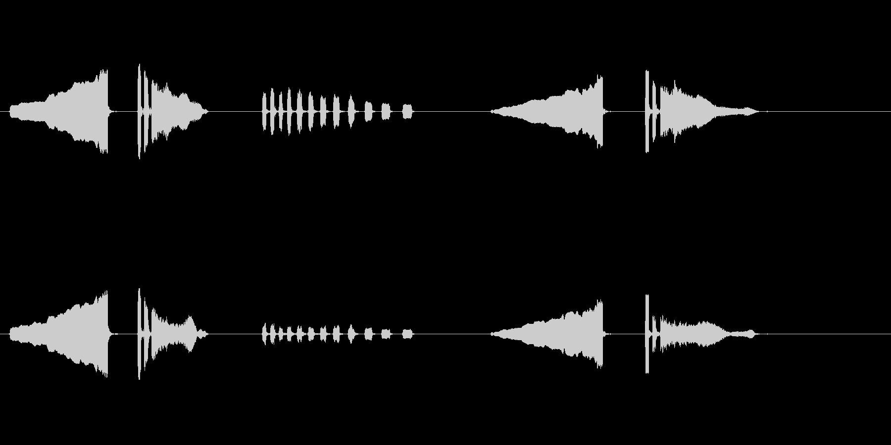 うぐいす笛2梅に鶯春鳴き声初音ホーホケキの未再生の波形