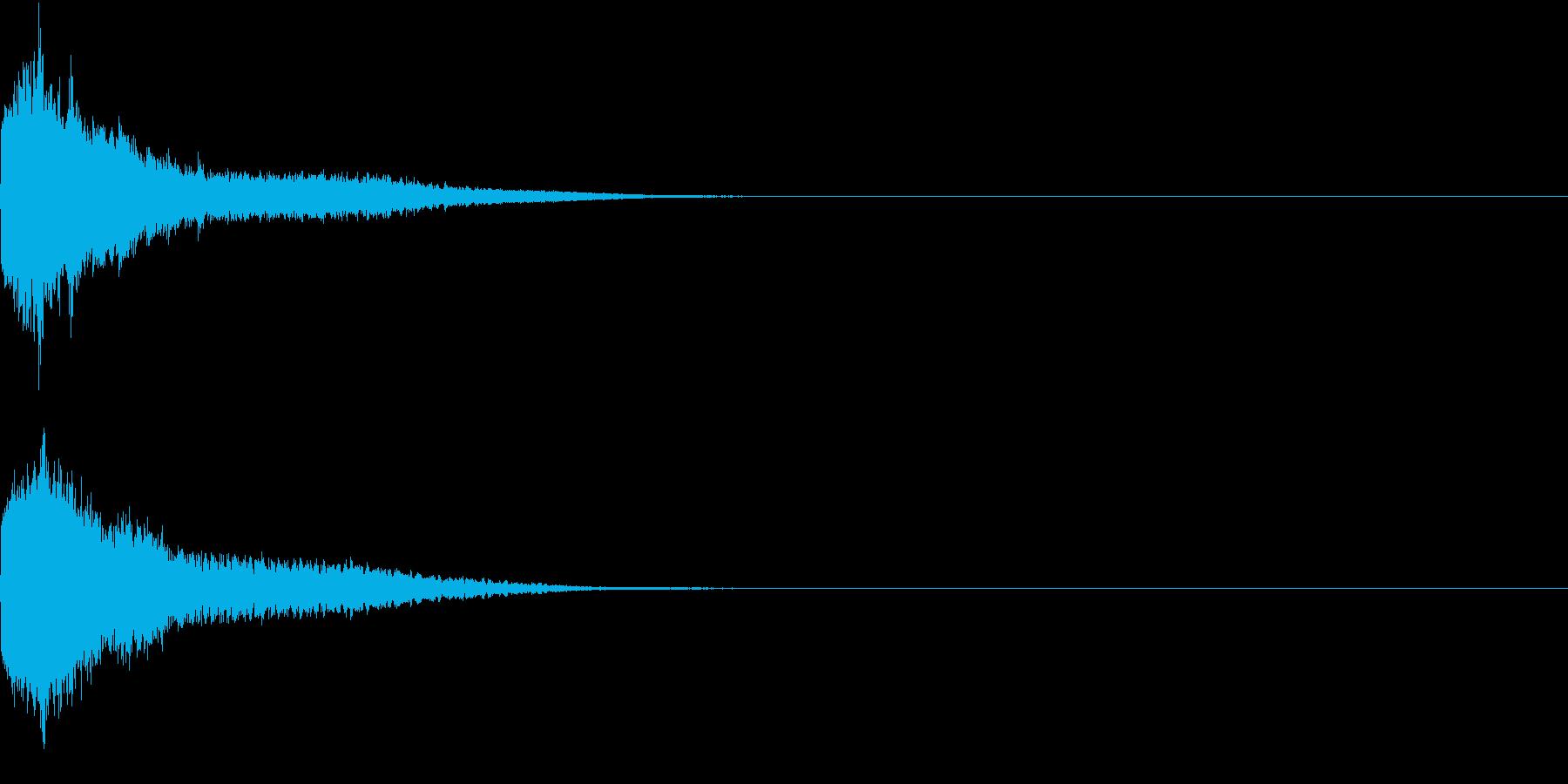 刀 一撃 キュイーン キーン 斬撃 12の再生済みの波形