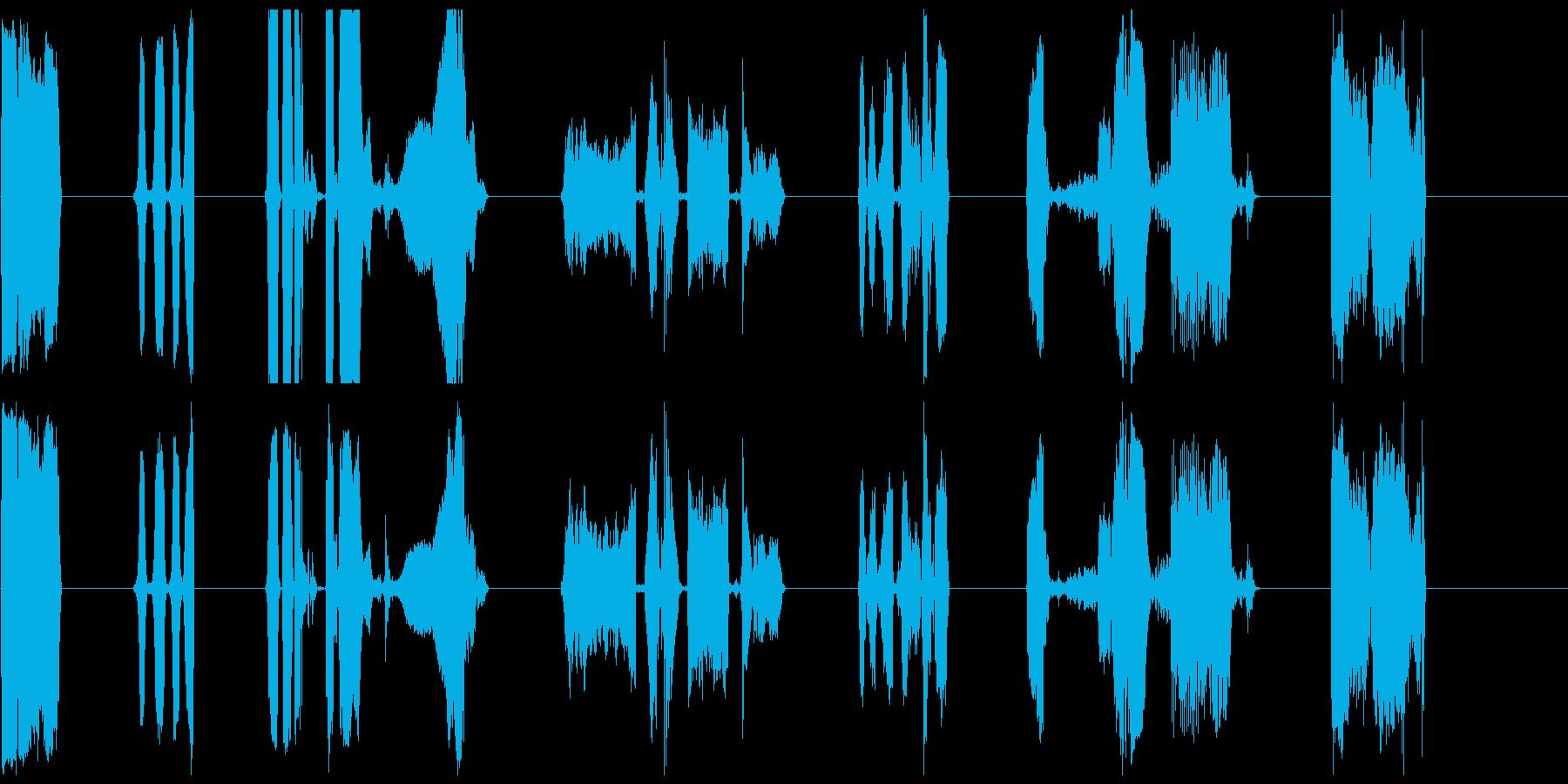 純粋なビニール1-7の再生済みの波形