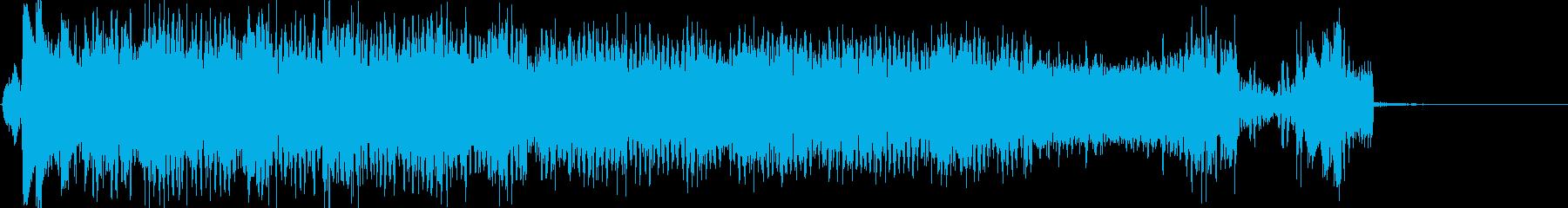 キックスターターの再生済みの波形