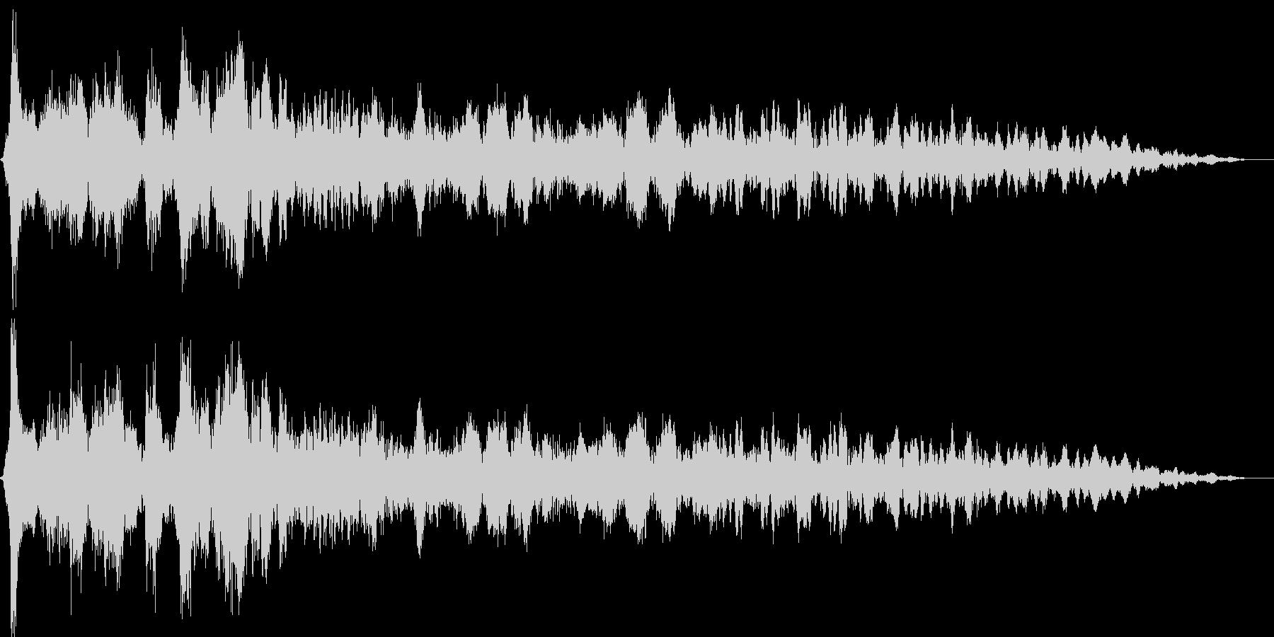 キュルルン(乗用車のエンジンをかける音)の未再生の波形