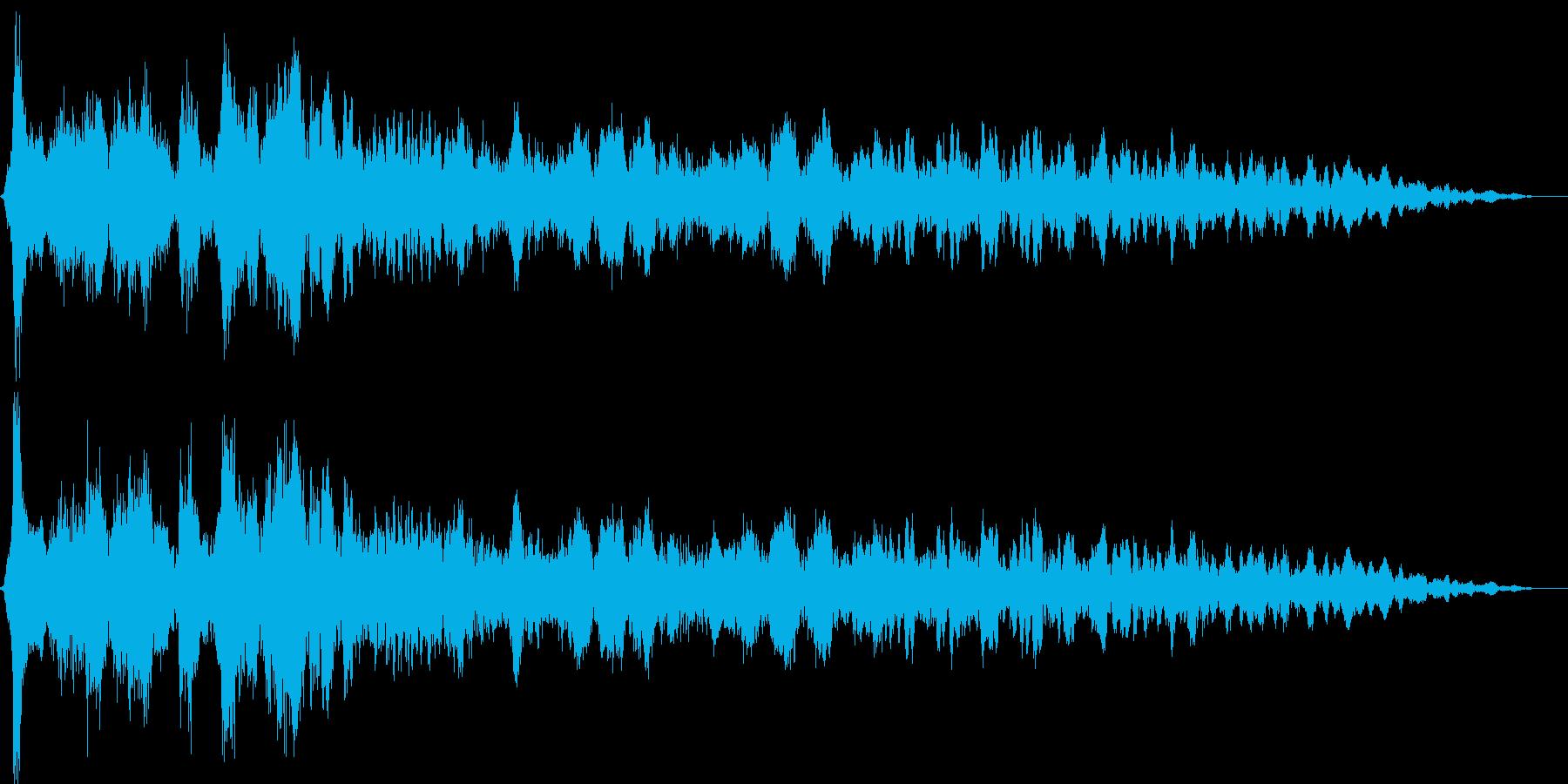 キュルルン(乗用車のエンジンをかける音)の再生済みの波形