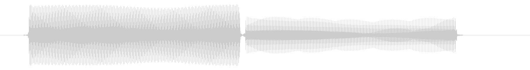 コンピューター/決定音/8ビットの未再生の波形