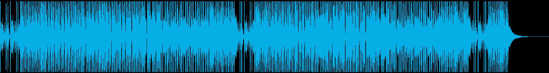 アップテンポなJAZZ風BGM_カフェの再生済みの波形