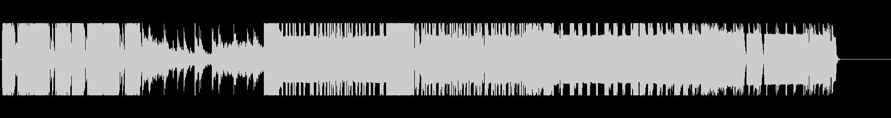 ダークでノイジーなドラムンベースの未再生の波形